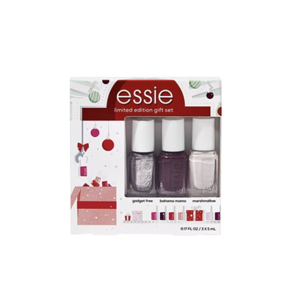 """<p><strong>Essie</strong></p><p>ulta.com</p><p><strong>$9.99</strong></p><p><a href=""""https://go.redirectingat.com?id=74968X1596630&url=https%3A%2F%2Fwww.ulta.com%2Fholiday-best-sellers-3-piece-nail-color-mini-kit%3FproductId%3Dpimprod2019918&sref=https%3A%2F%2Fwww.oprahmag.com%2Flife%2Fg34373773%2Fstocking-stuffer-ideas%2F"""" rel=""""nofollow noopener"""" target=""""_blank"""" data-ylk=""""slk:SHOP NOW"""" class=""""link rapid-noclick-resp"""">SHOP NOW</a></p><p>During a year in which <a href=""""https://www.oprahmag.com/beauty/skin-makeup/a27663157/manicure-at-home-tips/"""" rel=""""nofollow noopener"""" target=""""_blank"""" data-ylk=""""slk:at-home manis"""" class=""""link rapid-noclick-resp"""">at-home manis</a> have reigned supreme, you'd be remiss to forget some pretty polish. </p>"""
