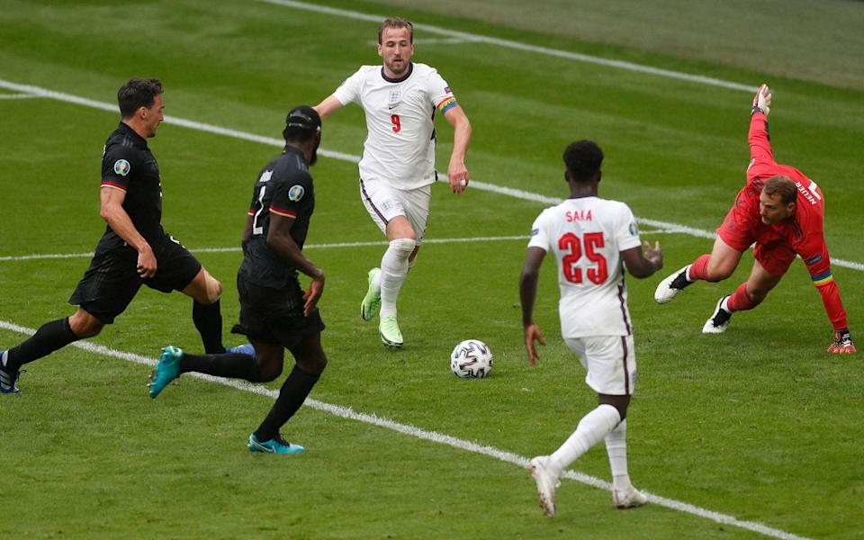 From this picture, it seems like Harry Kane could hardly miss... but he did - AFP