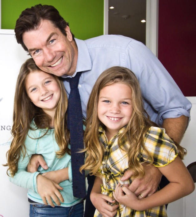 "<p>Rebecca Romijn shared a new snap of husband Jerry O'Connell and their twin daughters, Charlie and Dolly. She kept it simple, ""#HappyFathersDay @MrJerryOC Love you!!"" (Photo: <a href=""https://twitter.com/RebeccaRomijn/status/876478610130952193"" rel=""nofollow noopener"" target=""_blank"" data-ylk=""slk:Rebecca Romijn via Twitter"" class=""link rapid-noclick-resp"">Rebecca Romijn via Twitter</a>) </p>"