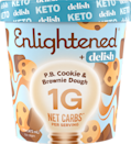 """<p>eatenlightened.com</p><p><strong>$8.00</strong></p><p><a href=""""https://eatenlightened.com/collections/keto/products/keto-pb-cookie-brownie-dough-pint?variant=32768216596560"""" rel=""""nofollow noopener"""" target=""""_blank"""" data-ylk=""""slk:Shop Now"""" class=""""link rapid-noclick-resp"""">Shop Now</a></p><p>Another dessert designed for low-carb dieters, Enlightened + Delish's Keto line offers fun flavors including Peppermint Brownie, Red Velvet, and Pumpkin Cheesecake. This light and fluffy flavor with bits of cookie and brownie dough hit all the right spots on our taste buds. </p><p><em>Per 2/3 cup: 260 cals; 24g fat, 13g carbs; 1g total sugars; 12g sugar alcohol; 5 g protein</em></p>"""
