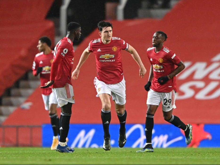 Harry Maguire celebrates scoring United's equaliserGetty Images