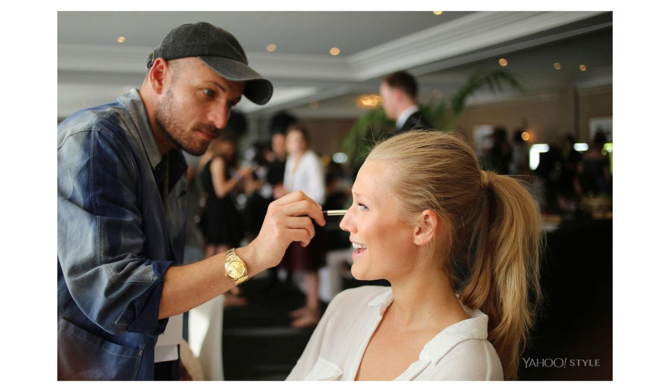 """<p>German supermodel Toni Garrn sits patiently, taking the odd selfie on her cellphone, as her strikingly structural features and simple blond main are tousled and perfected by L'Oréal's expert makeup artist Karim Rahman.<i></i>""""I don't have a specific remit from Carine Roitfeld,"""" he says, referring the director of tonight's fashion show at amfAR and the former editor in chief of French <i>Vogue</i>. """"It is more about what the girls want and making them look beautiful.""""</p>"""