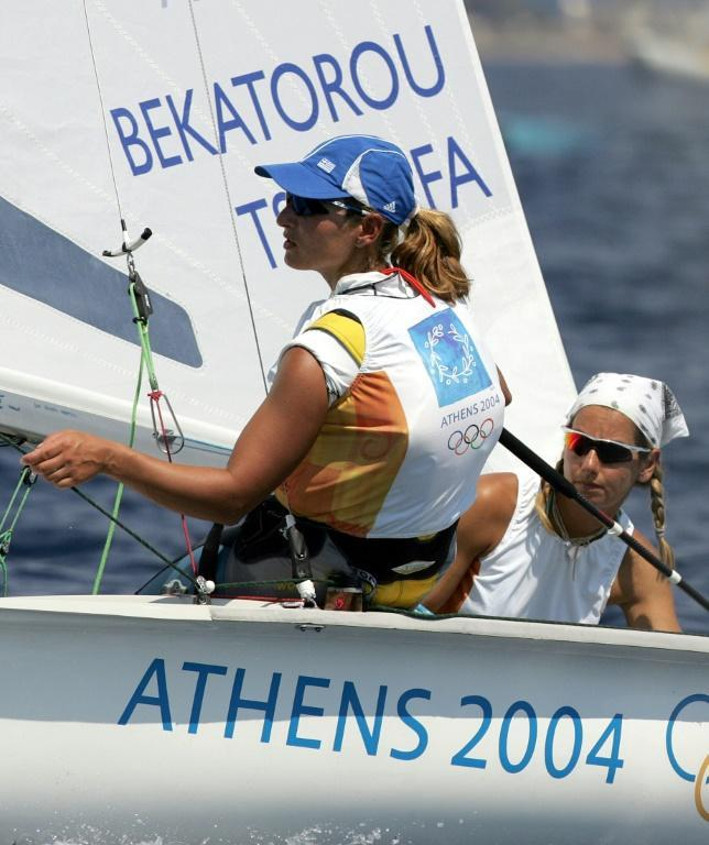 Sofia Bekatorou and Aimilia Tsoulfa won gold in the women's 470-class at the Athens Olympics in 2004