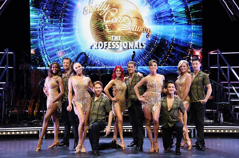 The dancers attending the Strictly Come Dancing Professionals UK Tour at Elstree Studios, London. Photo credit should read: Doug Peters/EMPICS