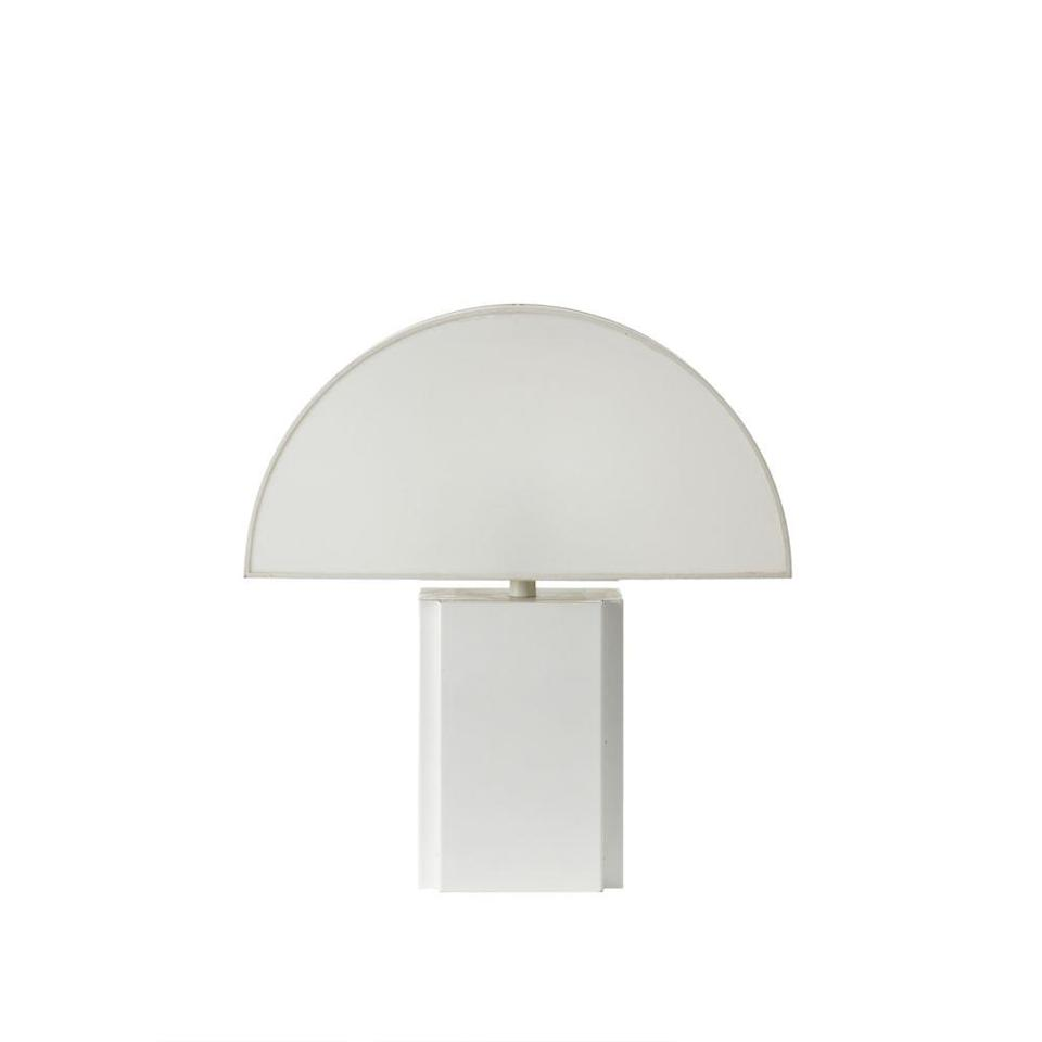 <p>Hailing from the 70s, this table lamp combines the best of the era's boldness with chic simplicity. Not the name of an individual designer but a brand founded by six brothers, Harvey Guzzini was known for its distinctive lighting designs, including retro mushroom-shaped creations and arcing floor lamps.</p>