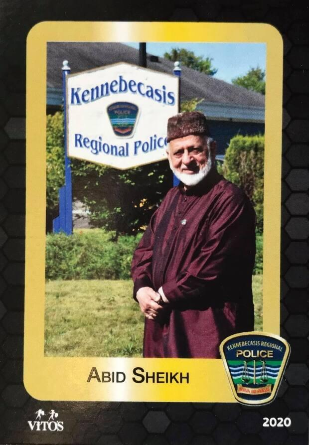 Imam and volunteer police chaplain Abid Sheikh works with RCMP, Kennebecasis Regional Police Force and the Saint John Police Force to provide cultural training and language support. (Submitted by Kennebecasis Regional Police Force - image credit)