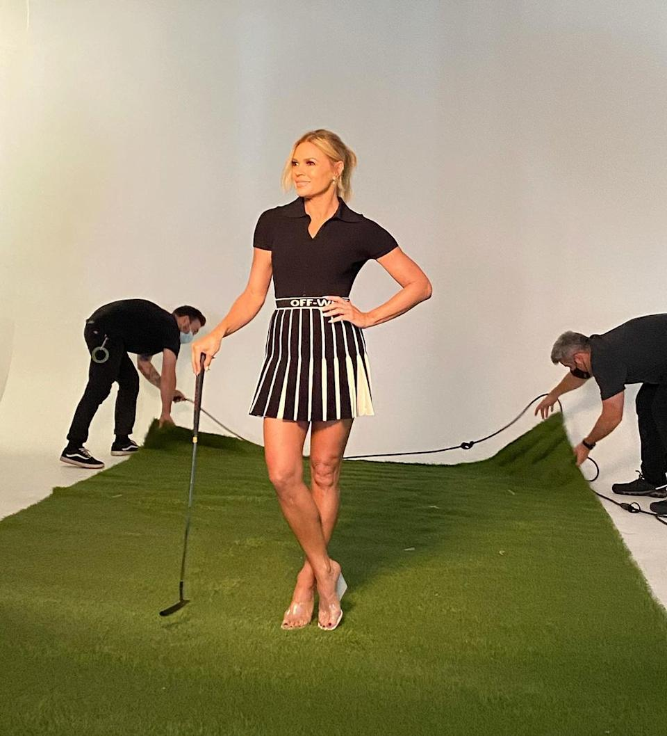 Sonia is set the host the debut season of extreme mini golf show, Holey Moley. Photo: Instagram/soniakruger.