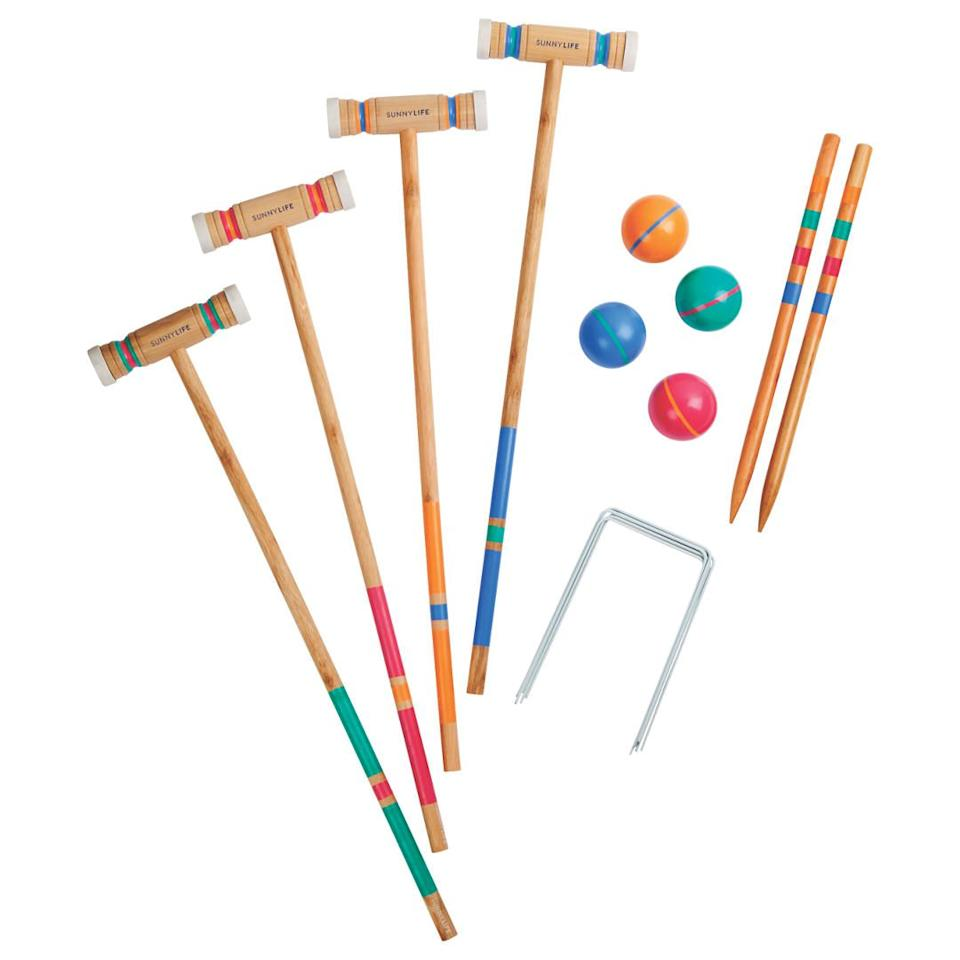 "<p>Up the fun levels with this colourful croquet set.<br></p><p><strong>Croquet Catalina by Sunnylife, £50, John Lewis</strong></p><p><a rel=""nofollow"" href=""https://www.johnlewis.com/sunnylife-croquet-catalina/p3361073"">BUY NOW</a></p>"