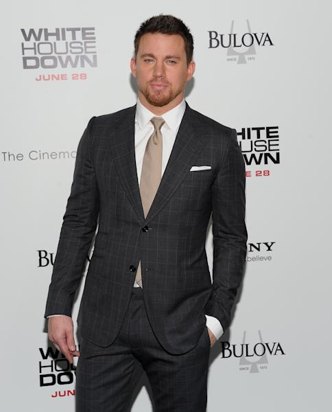 "Actor Channing Tatum attends the ""White House Down"" premiere at the Ziegfeld Theatre on Tuesday, June 25, 2013 in New York. (Photo by Evan Agostini/Invision/AP)"