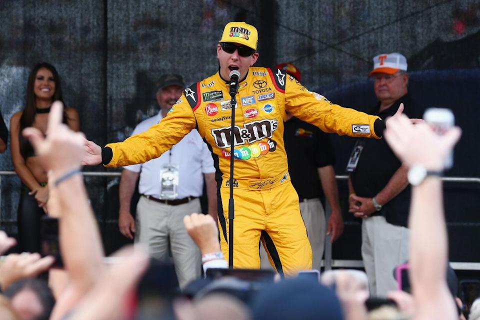 Kyle Busch connects with his fans. (Getty)