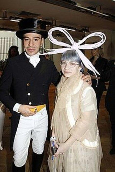 The amazing Tavi with John Galliano and bow.(Getty Images)