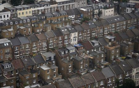 FILE PHOTO - Rows of houses are seen in North Kensington, London