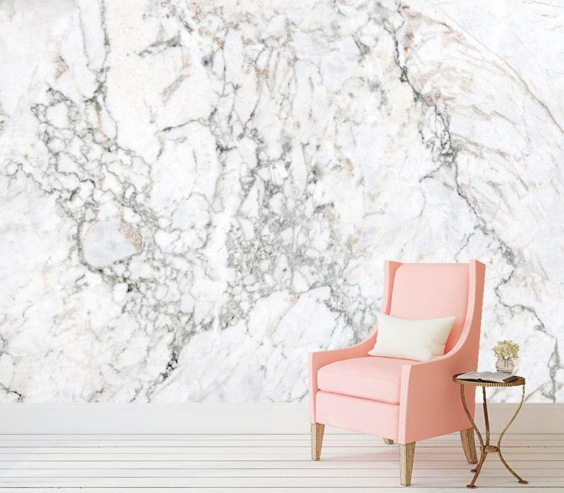 Marble peel and stick wallpaper, $300 at Etsy