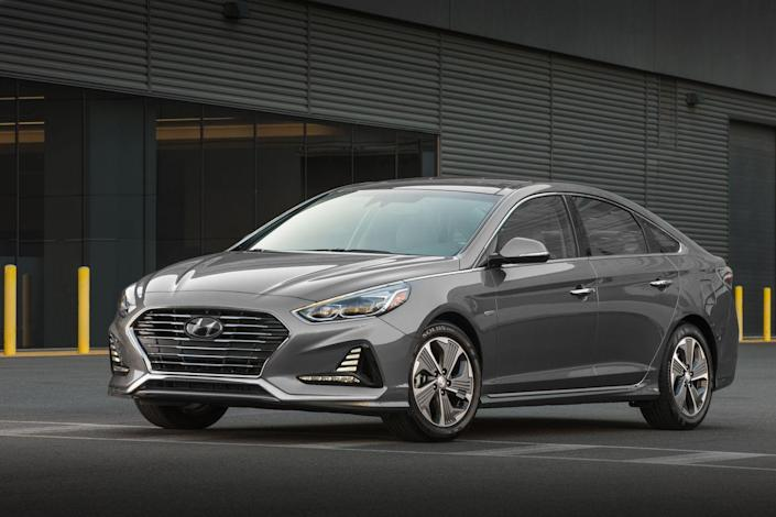 """<p><a href=""""https://www.caranddriver.com/hyundai/sonata"""" rel=""""nofollow noopener"""" target=""""_blank"""" data-ylk=""""slk:The Hyundai Sonata Hybrid"""" class=""""link rapid-noclick-resp"""">The Hyundai Sonata Hybrid</a> is a solid, if unremarkable sedan that enters 2019 unchanged. EPA-rated for up to 42 mpg combined, it isn't the most efficient hybrid mid-size sedan, and we've found its overall feel is a step below the class leaders, even though its roominess and value are strong.<br></p>"""
