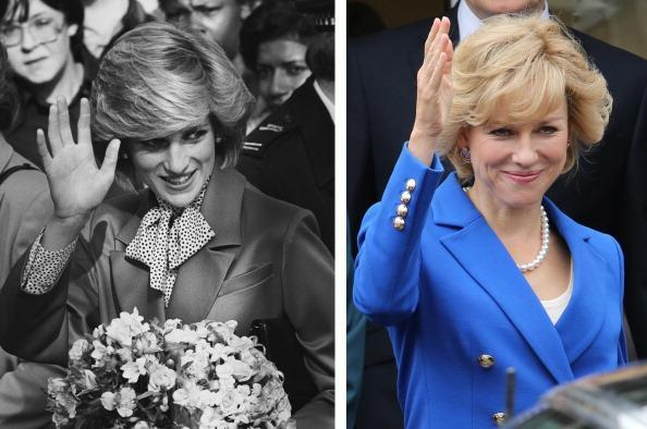 (FILE PHOTO) In this composite image a comparison has been made between Diana, Princess of Wales (L) and actress Naomi Watts. Naomi Watts will reportedly play Diana, Princess of Wales in a film biopic directed by Oliver Hirschbiegel. ***LEFT IMAGE*** Diana, Princess of Wales (1961 - 1997), on a walkabout in Brixton, South London on October 27, 1983. (Photo by Reg Lancaster/Express/Getty Images)***RIGHT IMAGE*** LONDON, UNITED KINGDOM - AUGUST 08: Naomi Watts on the set of the 'Diana' movie on August 8, 2012 in London, England. (Photo by Neil Mockford/FilmMagic)