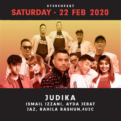 Malaysian artists Ayda Jebat, Ismail Izzani and 4u2c will be performing on the first day.