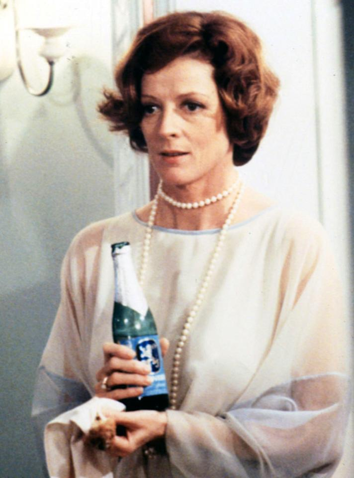 "Maggie Smith, Best Supporting Actress, 'California Suite' (1978)  Maggie Smith won her second Oscar for playing an uppity British actress who loses an Academy Award. Afterwards, she's so furious that she gets stinking drunk. As Smith staggers around her hotel room in Beverly Hills searching for more booze, her snide, bisexual husband (Michael Caine) screams, ""You drank everything in this state! Try Nevada!"""