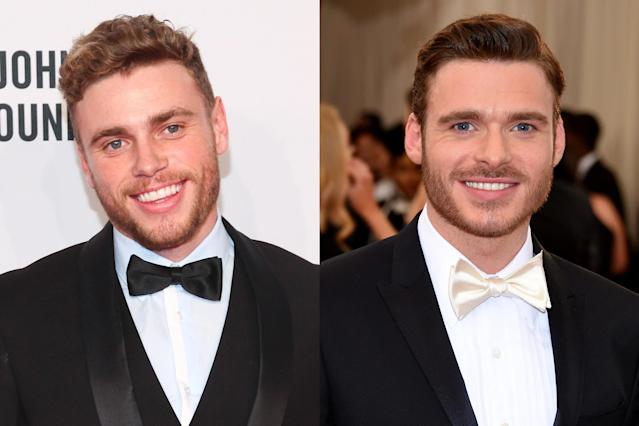 <p>The freestyle skier from America, Gus Kenworthy, shares an uncanny resemblance to actor Richard Madden who you probably know as Robb Stark on Game of Thrones. The North Remembers! </p>