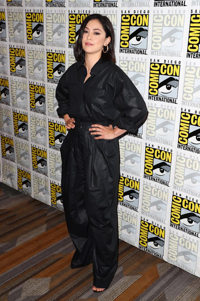 """Rosa Salazar attends the """"Undone"""" press line at 2019 Comic-Con International on July 18, 2019 in San Diego, California. Photo courtesy of Getty Images."""