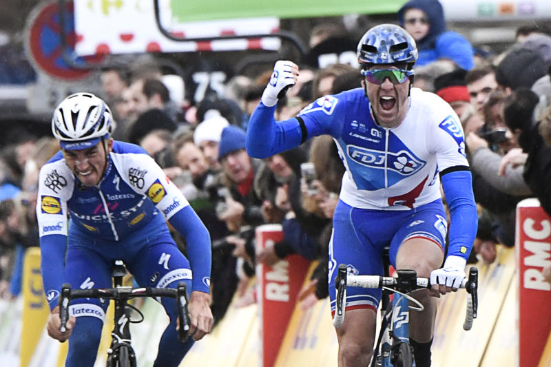 Cycling - Demare claims Paris-Nice opener as favourites stumble