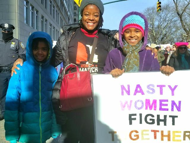 Nina, left, Charise and Lauren Fisher. (Photo: Kadia Aretha Tubman/Yahoo News)
