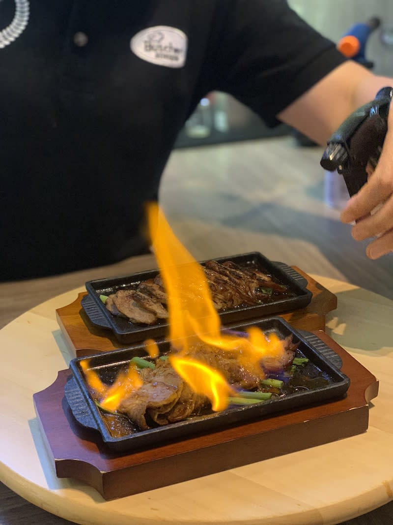 Flaming char siew. Photo: The Butcher's Kitchen