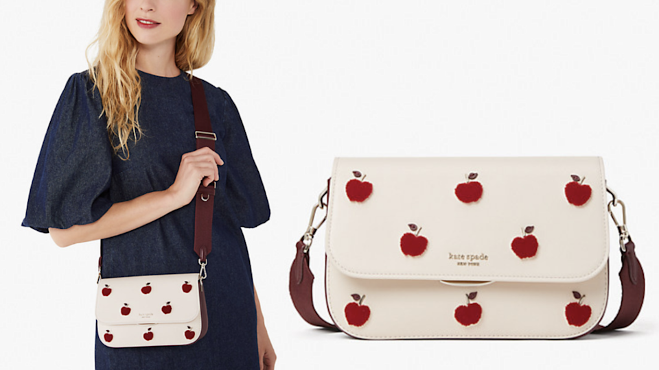 Why just pick apples when you can also wear them on your purse?