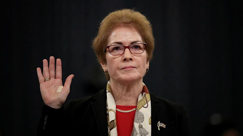 Former U.S. Ambassador to Ukraine Marie Yovanovitch is sworn in prior to providing testimony before the House Intelligence Committee in the Longworth House Office Building on Capitol Hill November 15, 2019 in Washington, DC. (Photo: Drew Angerer/Getty Images)