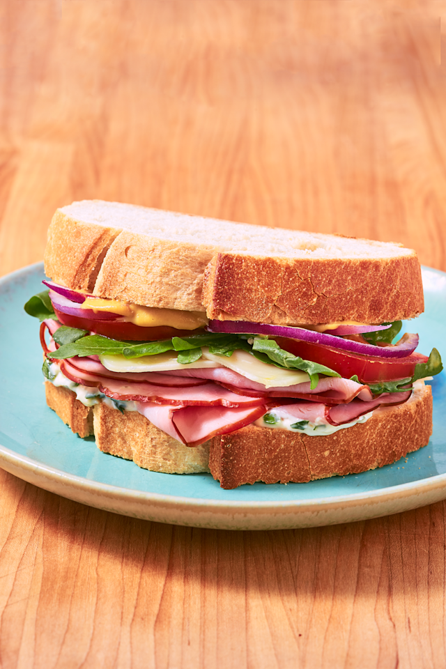 """<p>Ham you believe how easy it is?</p><p>Get the recipe from <a href=""""https://www.delish.com/cooking/recipe-ideas/a26966279/ham-sandwich-recipe/"""" target=""""_blank"""">Delish</a>.</p>"""