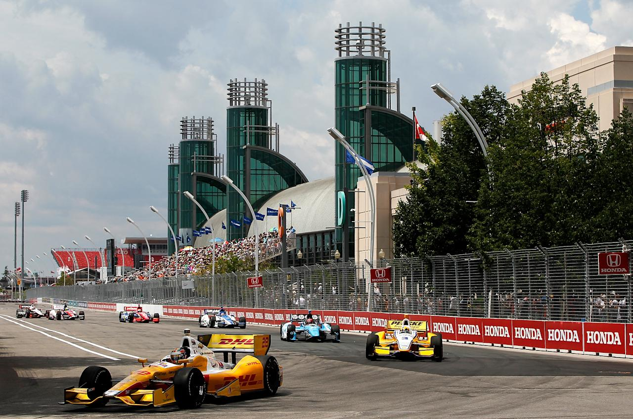 TORONTO, CANADA - JULY 08: Ryan Hunter-Reay of the United States, drives his #28 Sun Drop/DHL Andretti Autosport Chevrolet Dallara during the IZOD INDYCAR Series Honda Indy Toronto on July 8, 2012 in Toronto, Canada. (Photo by Jonathan Ferrey/Getty Images)