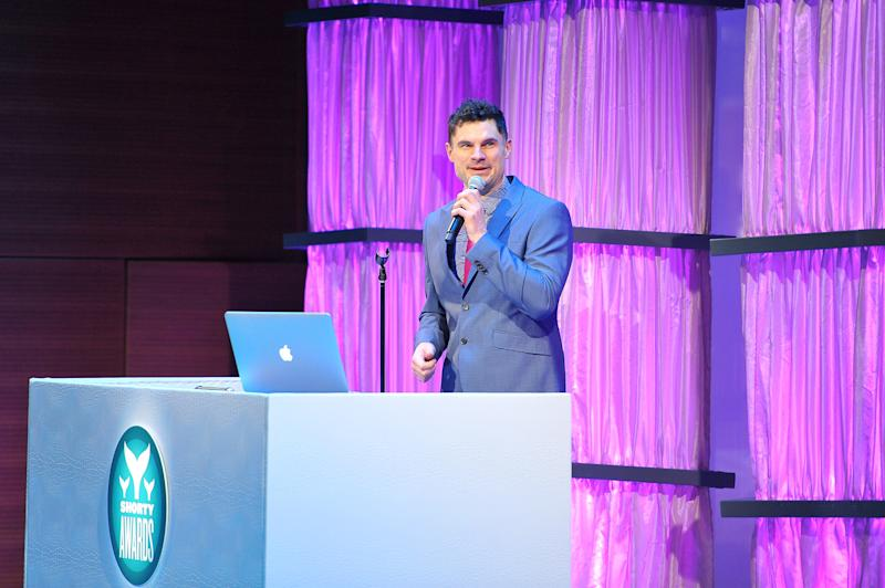 Flula Borg speaks onstage at The 8th Annual Shorty Awards on April 11, 2016. (Photo by D Dipasupil/Getty Images for The Shorty Awards)