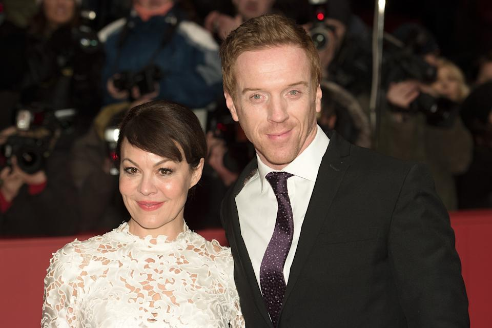 BERLIN, GERMANY - FEBRUARY 06:  Damian Lewis (R) and his wife Helen McCrory attend the 'Queen of the Desert' premiere during the 65th Berlinale International Film Festival at Berlinale Palace on February 6, 2015 in Berlin, Germany.  (Photo by Target Presse Agentur Gmbh/Getty Images)