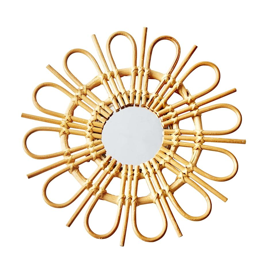 """<h2>D&C Manufacturing Loop Sunburst Rattan Mirror</h2><br>This petite piece of boho decor is just the right size for an overlooked nook. Measuring a little larger than a dinner plate, it could be hung on a sliver of wall space or even be propped up on a desktop, and will make a sunny addition to your best bud's WFH setup. <br><br><em>Shop <strong><a href=""""https://shop.globein.com/"""" rel=""""nofollow noopener"""" target=""""_blank"""" data-ylk=""""slk:GlobeIn"""" class=""""link rapid-noclick-resp"""">GlobeIn</a></strong></em><br><br><br><strong>D&C Manufacturing</strong> Loop Sunburst Rattan Mirror, $, available at <a href=""""https://go.skimresources.com/?id=30283X879131&url=https%3A%2F%2Fshop.globein.com%2Fcollections%2Fbest-sellers%2Fproducts%2Floop-sunburst-rattan-mirror-small"""" rel=""""nofollow noopener"""" target=""""_blank"""" data-ylk=""""slk:GlobeIn"""" class=""""link rapid-noclick-resp"""">GlobeIn</a>"""