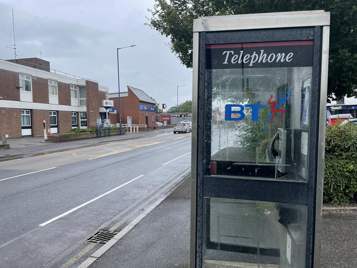 The call box in Millennium Way, Sheerness on the Isle of Sheppey.