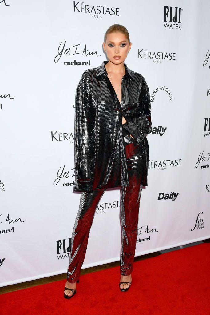 <p><strong>9 September</strong></p><p>Elsa Hosk also opted for sequins.</p>