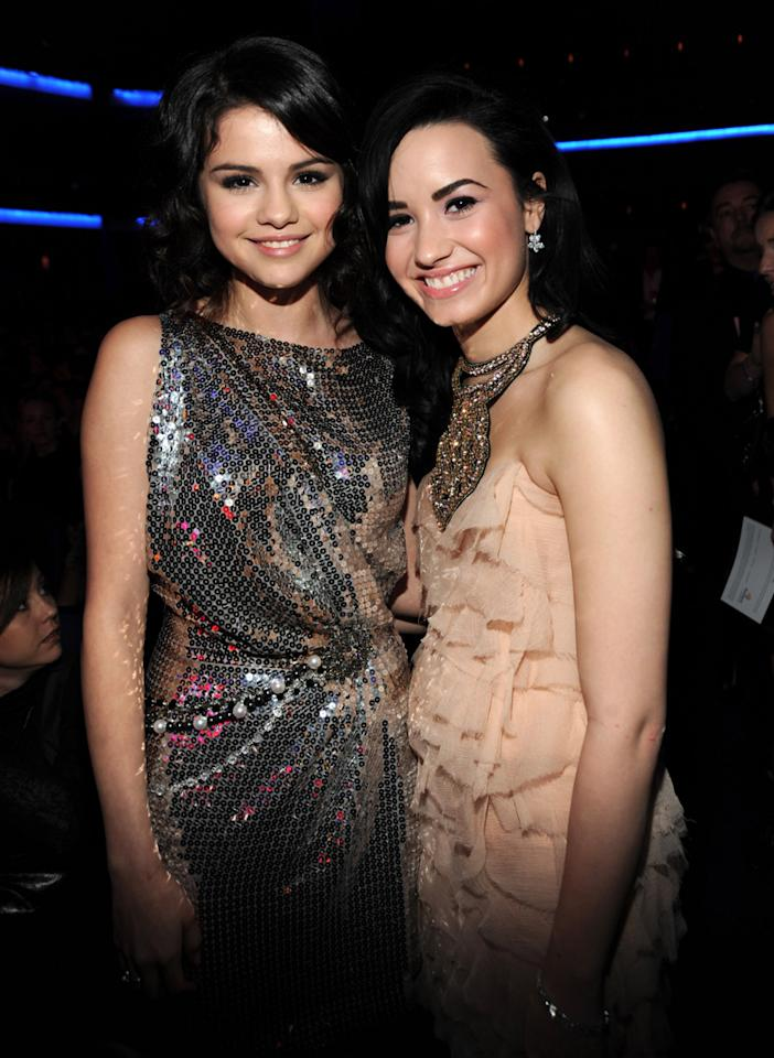 "HollywoodLife reports there's a ""feud brewing between Demi Lovato, Selena Gomez & Rebecca Black."" According to the site, newcomer Black ""cast the first stone by gushing about Selena's guy Justin Bieber in interviews."" And the reason for Black's troubles with Lovato is that she may ""replace Demi as the next Disney Channel 'it girl,'"" says the site, which warns she shouldn't ""try to ignite something with Demi's ex, Joe Jonas."" For how ugly this could likely become, read what sources leak to <a href=""http://www.gossipcop.com/rebecca-black-feud-demi-lovato-selena-gomez-fighting-feuding/"" target=""new"">Gossip Cop</a>. Kevin Mazur/<a href=""http://www.wireimage.com"" target=""new"">WireImage.com</a> - November 22, 2009"