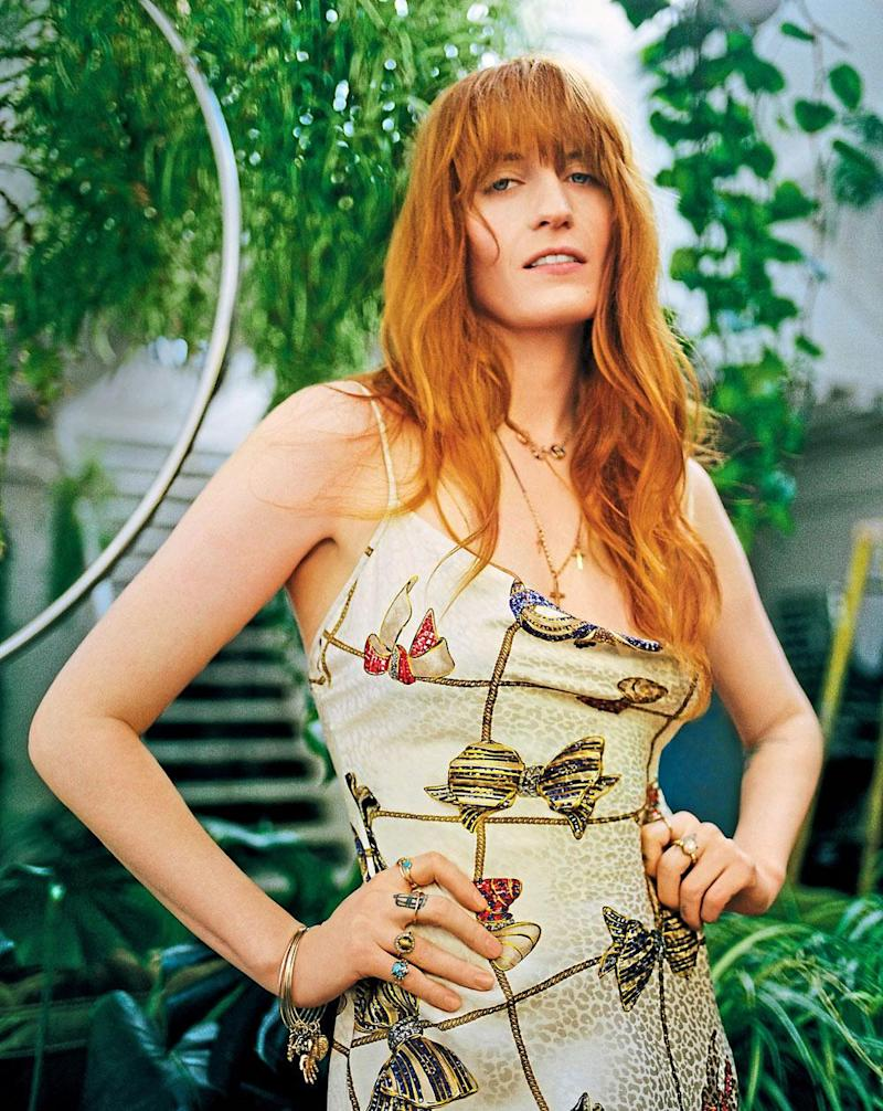 Posing: Florence Welch for ES Mag
