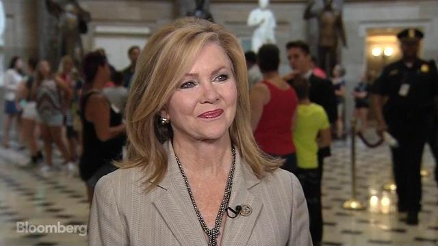 "Jul.26 -- Rep. Marsha Blackburn, chairman of the subcommittee on communications and technology and a Republican from Tennessee, talks with Bloomberg's Kevin Cirilli about a ""skinny reform"" agreement on health care, the looming debt ceiling, and the fate of Attorney General Jeff Sessions."