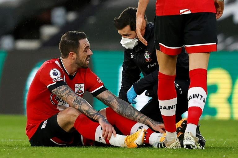 Southampton's top scorer Danny Ings (left) was forced off with an injury in the first half