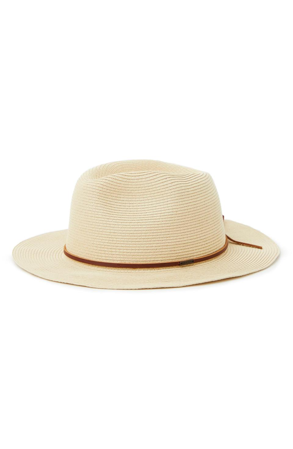 """<p><strong>Brixton</strong></p><p>nordstrom.com</p><p><a href=""""https://go.redirectingat.com?id=74968X1596630&url=https%3A%2F%2Fwww.nordstrom.com%2Fs%2Fbrixton-messer-straw-fedora%2F5925834&sref=https%3A%2F%2Fwww.esquire.com%2Fstyle%2Fmens-fashion%2Fg37002225%2Fnordstrom-anniversary-sale-mens-fashion-deals-2021%2F"""" rel=""""nofollow noopener"""" target=""""_blank"""" data-ylk=""""slk:Shop Now"""" class=""""link rapid-noclick-resp"""">Shop Now</a></p><p><strong>Sale: </strong><strong>$35.90</strong></p><p><strong>After Sale: $55.00</strong></p><p>The perfect topper for your beach-bound weekend. </p>"""