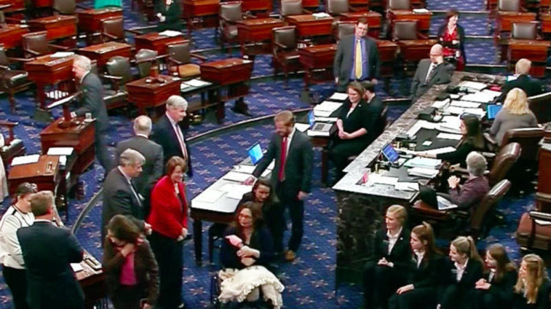 Tammy Duckworth And Baby Make History, Becoming First On Senate Floor