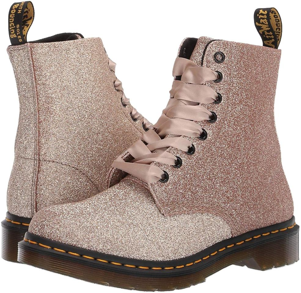 "<p>Just imagine how many compliments you'll get on these <a href=""https://www.popsugar.com/buy/Dr-Martens-1460-Pascal-Glitter-8-Eye-Boots-523970?p_name=Dr.%20Martens%201460%20Pascal%20Glitter%208%20Eye%20Boots&retailer=amazon.com&pid=523970&price=78&evar1=fab%3Aus&evar9=45389435&evar98=https%3A%2F%2Fwww.popsugar.com%2Fphoto-gallery%2F45389435%2Fimage%2F45389437%2FDr-Martens-1460-Pascal-Glitter-8-Eye-Boots&list1=shopping%2Cshoes%2Cboots%2Choliday%2Cglitter%2Cdr.%20martens&prop13=api&pdata=1"" rel=""nofollow"" data-shoppable-link=""1"" target=""_blank"" class=""ga-track"" data-ga-category=""Related"" data-ga-label=""https://www.amazon.com/Dr-Martens-Womens-Glitter-Uncoated/dp/B07FKQM4KK/ref=sr_1_1?crid=1576NXJN0QPKW&amp;dchild=1&amp;keywords=glitter+dr+martens&amp;qid=1574793104&amp;sprefix=glitter+dr+%2Caps%2C354&amp;sr=8-1"" data-ga-action=""In-Line Links"">Dr. Martens 1460 Pascal Glitter 8 Eye Boots</a> ($78, originally $120).</p>"