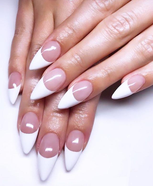"""<p>Take the classic style up a notch with ultra-long nails filed into a sharp stiletto shape. If looks could kill, right?</p><p><a class=""""link rapid-noclick-resp"""" href=""""https://www.amazon.com/Professional-Crystal-Bona-Fide-Beauty/dp/B00TDDI6IS/?tag=syn-yahoo-20&ascsubtag=%5Bartid%7C10055.g.1267%5Bsrc%7Cyahoo-us"""" rel=""""nofollow noopener"""" target=""""_blank"""" data-ylk=""""slk:SHOP NAIL FILE"""">SHOP NAIL FILE</a></p><p><strong>RELATED: </strong><a href=""""https://www.goodhousekeeping.com/beauty/nails/g28004265/dip-powder-nail-kits/"""" rel=""""nofollow noopener"""" target=""""_blank"""" data-ylk=""""slk:13 Best Dip Powder Nail Kits to Buy"""" class=""""link rapid-noclick-resp"""">13 Best Dip Powder Nail Kits to Buy</a></p><p><a href=""""https://www.instagram.com/p/B81oFUFFJAO/&hidecaption=true"""" rel=""""nofollow noopener"""" target=""""_blank"""" data-ylk=""""slk:See the original post on Instagram"""" class=""""link rapid-noclick-resp"""">See the original post on Instagram</a></p>"""