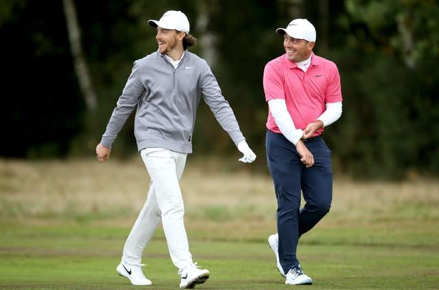 Tommy Fleetwood, left, and Francesco Molinari are still in Europe (Steven Paston/PA)