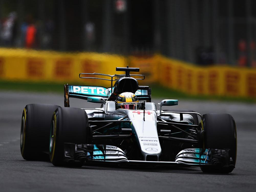 Lewis Hamilton was fastest in the first two practice sessions of the year in Melbourne: Getty