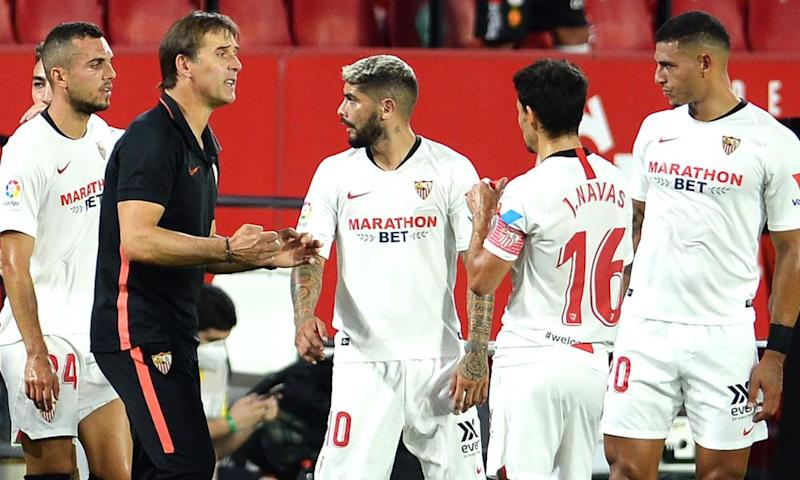 Julen Lopetegui acknowledged that Sevilla need one more point, or for Villarreal to drop points, to secure a top-four place.