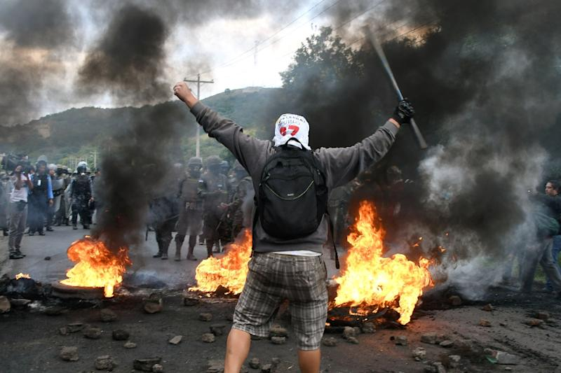 Honduras' contested presidential election has set off a wave of violence amid opposition protests like this one against President Orlando Hernandez, declared the winner after a weekslong vote count