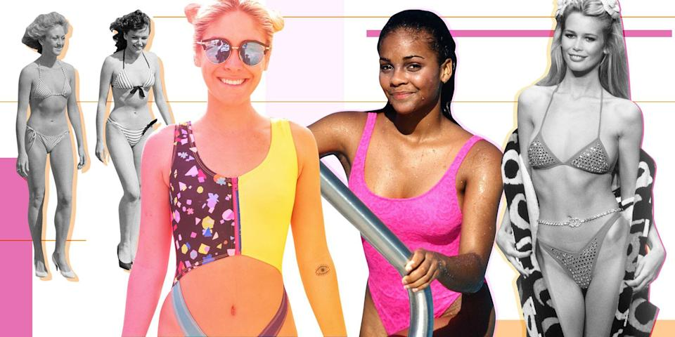 <p>One-pieces and bikinis have changed a lot over the years, going from super simple to crazy cutouts, metallics, and embellishments. Find out which suit was the most popular the year you were born!</p>