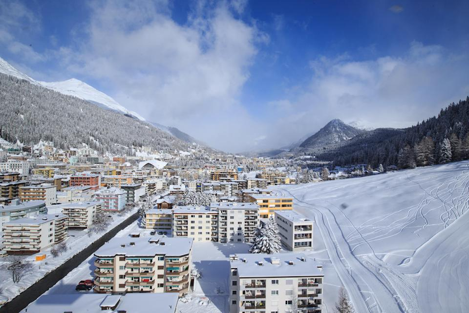The town of Davos. Photo: Xinhua/SIPA USA/PA Images