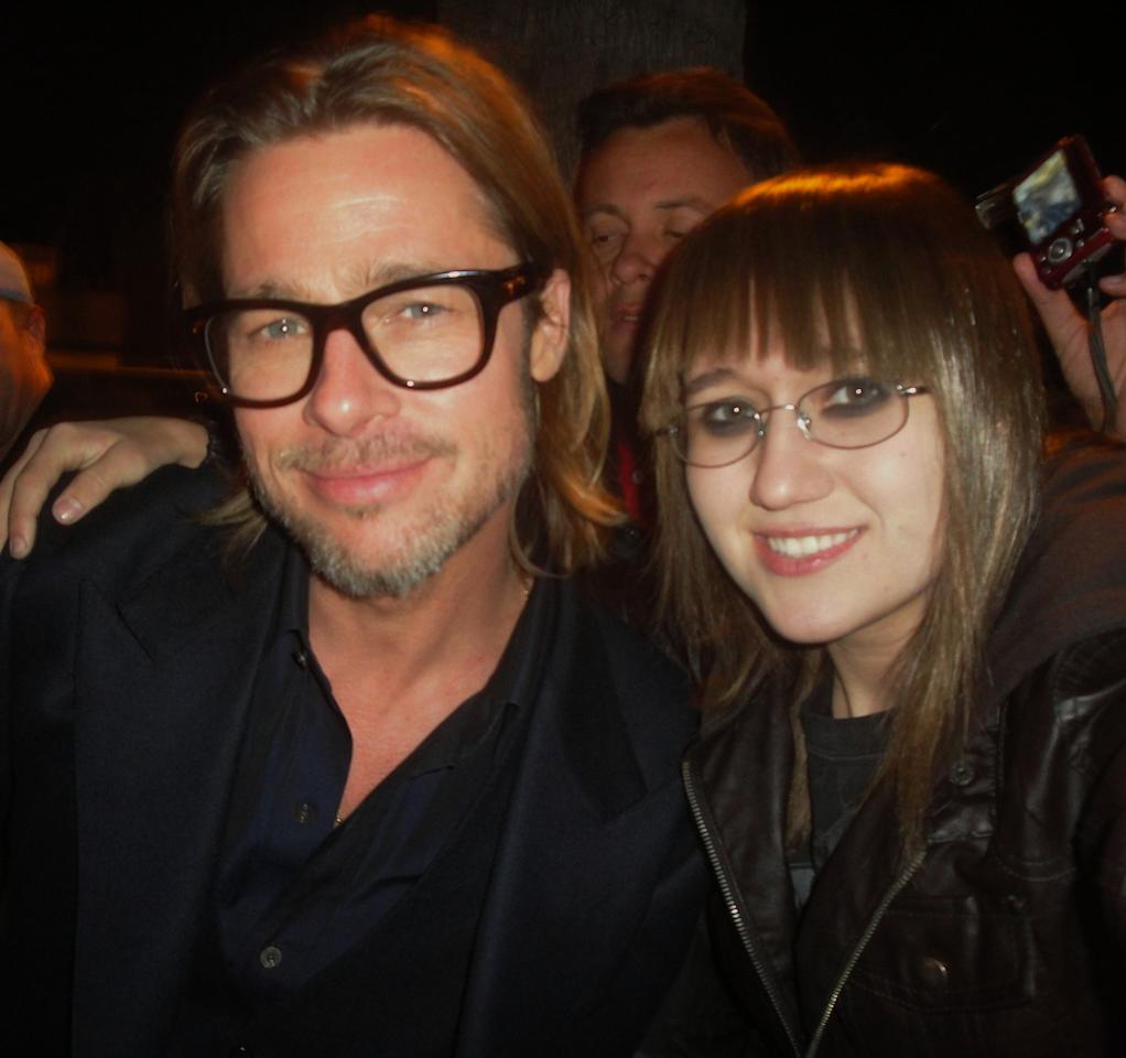"""""""Brad Pitt and me,"""" she writes. """"Your performance in Moneyball was fantastic!"""""""